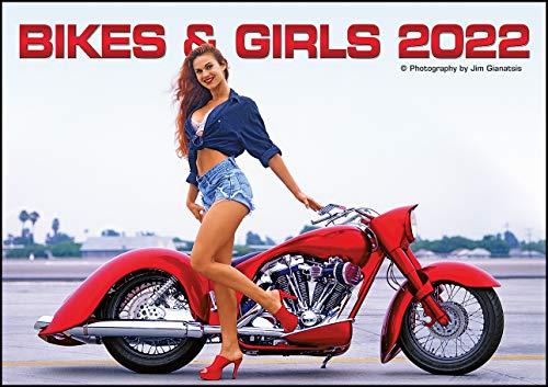 Bikes & Girls 2022 - Wand-Kalender - 42x29,7 - Frauen - Motorrad