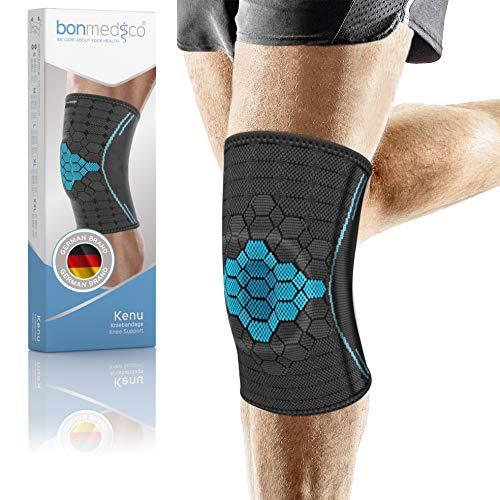 bonmedico Kenu Kniebandage Damen & Herren - 1 Sport-Bandage mit Silikon-Patellaring für links oder rechts -...