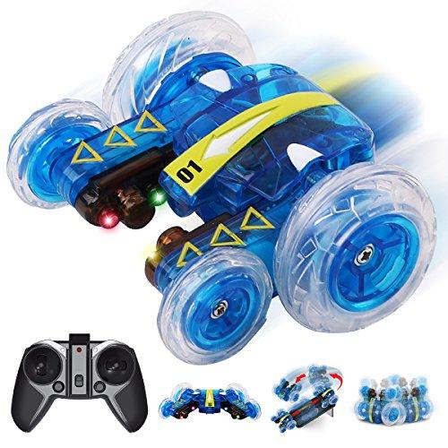 GILOBABY Ferngesteuertes Auto Spielzeug für draußen,Mini Stunt Auto,Drift Car mit 360° Rotation und...