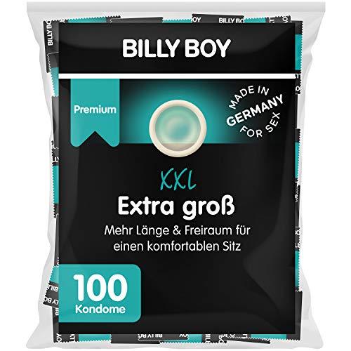 Billy Boy Extra Groß Kondome – extra lang (195mm) & breit (bis zu 62mm), XXL Kondome, transparent,...
