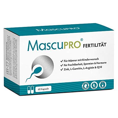 MascuPRO® Fertilität Mann - Fruchtbarkeit - Spermienproduktion + 60 Kapseln + L-Carnitin Carnipure®, L-...