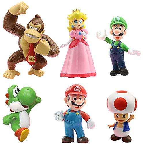 Miotlsy Super Mario Spielzeug Super Mario Brothers Mini Figuren Set Donkey Kong Toad Mario Luigi Yoshi Peach...